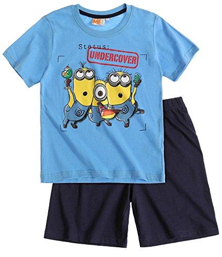 Minions Despicable Me Jungen Shorty-Pyjama - blau - 128