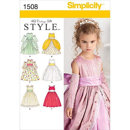 Simplicity us1508a Größe eines Kindes besonderen Anlass Kleid