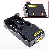 JZK® Nitecore i2 caricabatterie intelligente per IMR / Li-ion 26650 22650 18650 18490 18350 17670 17500 17335 16340 14500 10440 RCR123 Ni-MH / Ni-Cd AA AAA AAAA C