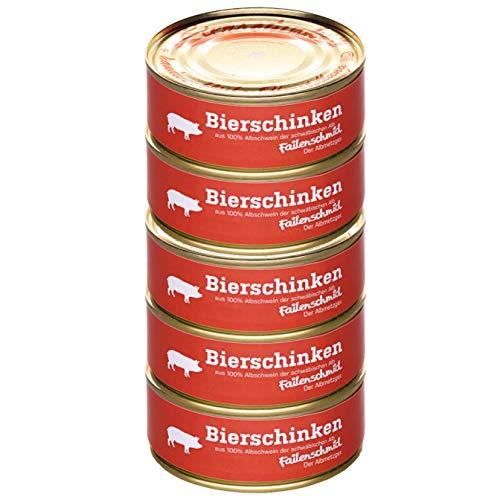 Failenschmid Bierschinken vom Albschwein - Vorrats-Set Dosenwurst 5x 200g Wurstdose