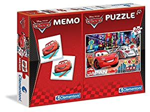 Clementoni 79025 - Set de Puzzle (60 Piezas) y Juego de Memoria, diseño de Cars
