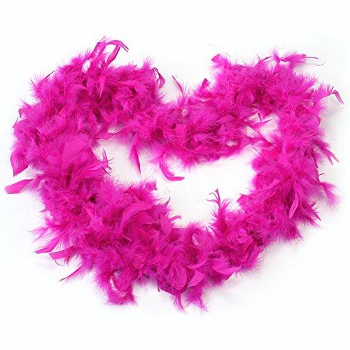 Rosa Fuerte 2m Boa de Pluma Accesorio Decorativo para Cosplay Fiesta Navidad