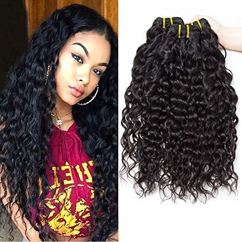 PF Hair 9A Brésilien Vague D'eau Vierge Cheveux 3 Trames 300 Grammes 8 10 12 Pouces 100% Cheveux Naturel Bresilienne Bouclée les Cheveux Humains Tissage Bresilien Boucle Water Wave Hair Bundles