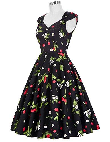 1a7c829cebc67 ... GRACE KARIN® Damen 50s Vintage Rockabilly Kleid Festliches Kleid  Sommerkleid CL007600 CL007600-12 ...