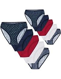 5er oder 10er-Pack Damen Slips für jeden Tag - gestreift, gepunktet und uni im Vorteilspack Unterhose - versch. Farben und Größe XL