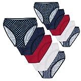 10er-Pack Damen Slips für jeden Tag - gestreift, gepunktet und Uni im Vorteilspack Unterhose - versch. Farben und Größe S