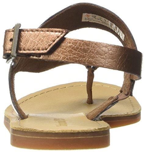 Timberland Women s Carolista Ankle ThongCopper Metallic Wedge Heels Sandals  Copper  3 5 UK