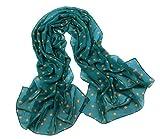 Gespout Pañuelos Bufanda para Mujer de Otoño Invierno Bufanda de Cómodo Cálido Scarves de Accesorios de Ropa Dama Niñas Elegante Regalo de Cumpleaños Puntos Gasa Material 1pcs 160*47cm Verde