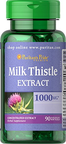 Puritan's Pride Milk Thistle 4:1 Extract 1000 mg, 90 softgels