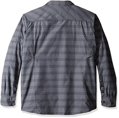 Columbia Mens Tall Silver Ridge Plaid Long Sleeve Shirt, 2X/Tall, Blue Heron Plaid Shark Stripe