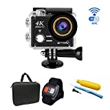 ESTGOUK [2017 Verbesserte Version ] Star Sports Action Camera 12MP Ultra HD 4K Action Cam Wasserdichte Action Kamera Helmkamera mit Transporttasche und Zubehör Kit