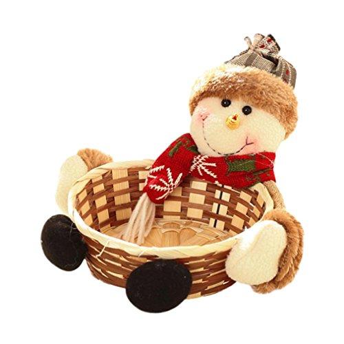 Tefamore natale cestino di stoccaggio di caramelle, cestino di immagazzinaggio del babbo natale (a)