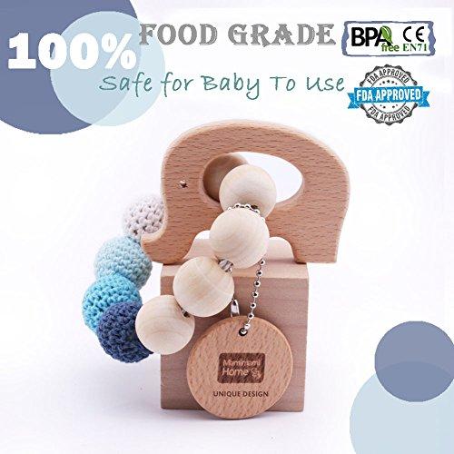 Legno Massaggiagengive legno elefante ha modellato dentizione Bracciale Nursing Chew giocattolo Montessori teether del bambino Giocattoli