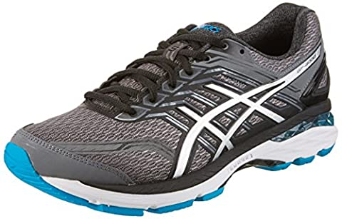 Asics Men's Gt-2000 5 Multisport Outdoor Shoes, Multicolor (Carbon/Silver/Island Blue), 8 UK