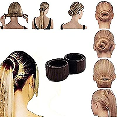 TOPBeauty Women Hair Bun Maker French Twist Hair Fold Wrap Snap