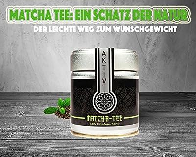 Matcha Tee zum abnehmen - 100% Bio Grüntee Pulver in 30g Dose - Jadegrün, sehr gesund und schmeckt hervorragend von MatchaTees bei Gewürze Shop