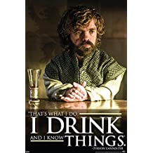 Game of Thrones Poster Tyrion Lannister Drink Quote (61cm x 91,5cm) + Original tesa Powerstrips® (1 Pack/20 Stk.)