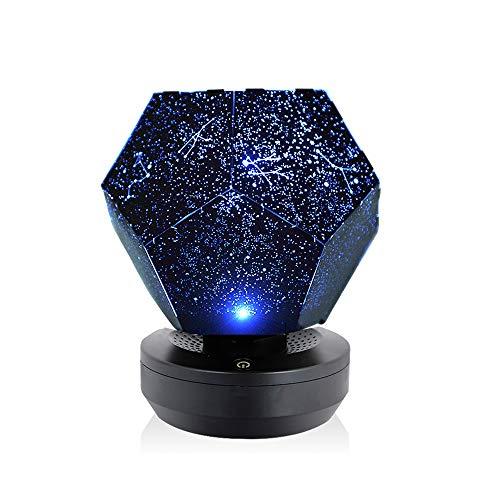 Lixada Luz Nocturna LED Lámpara Proyector Estrellas
