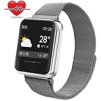 RanGuo - Reloj Inteligente para Hombres, Mujeres y niños, Deportes al aire libre impermeable Smart Watch para sistema Android y iOS, Apoyo recordatorio de ...