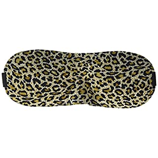 A-SZCXTOP 3D Eye Mask Ultra-breathable Sleep Mask Ultra Soft Skin-Friendly Pure Natural Cotton Sleeping Masks for Men & Women with Adjustable Strap (Leopard)