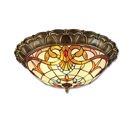 LED Deckenleuchte Klassische Deckenlampe rustikale Zimmerlampe Deckenlampe Lampenschirm getöntes Glas Kunstlampe Dekorative Beleuchtung Flurlampe 18W 1350 Lumen Einzigartig