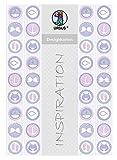 Ursus 62344601F Designkarton, Meine Taufe, Mädchen, 200 g/Qm, Din A4, 25 Blatt, Motiv 1
