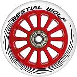 Bestial Wolf Pilot Ruedas, Blanco / Rojo, Talla Única