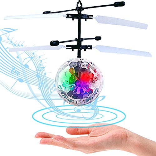 LISOPO RC fliegender Ball ,Kinder Judgen Mini Flugzeug Hubschruber mit LED Leuchtung Kinder Fliegen RC Kugel LED Blitzen Licht Flugzeug Hubchrauber Infrarot-Induktions RC Spielzeug (Fliegen 6 Licht)