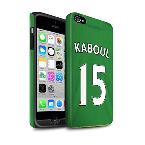 Offiziell Sunderland AFC Hülle / Matte Harten Stoßfest Case für Apple iPhone 4/4S / Pack 24pcs Muster / SAFC Trikot Away 15/16 Kollektion Kaboul