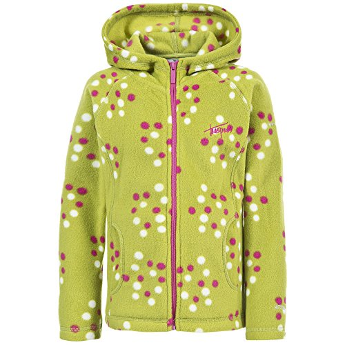 Trespass Luella Mädchen Fleece Jacke mit Kapuze und Muster (5/6 Jahre (110/116)) (Zitrone) (Mädchen Fleece Jacke Mit Kapuze)