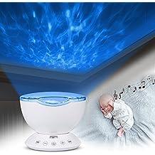 Aktualisierung Fernbedienung Ocean Wave Projektor Lampe Schlafzimmer Nacht Licht Dekoration Beleuchtung Fr Baby