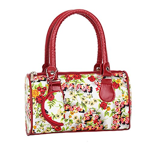 Beikoard Vendita Calda Borsa a Tracolla Tote Ladies Handbag Ricamata a Spalla da Donna (Rosso)