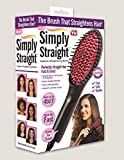 #5: Brite ® Simply Straight Ceramic Straightening Brush - Hair Straightener, Curler and Styler (MutliColor)