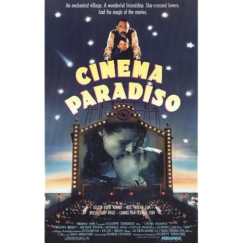 Cinema Paradiso Póster de película B - 28 cm x 44 cm 11 x 17 Philippe Noiret Jacques Perrin Salvatore Cascio Marco Leonardi inés linkzyou Leopoldo Trieste