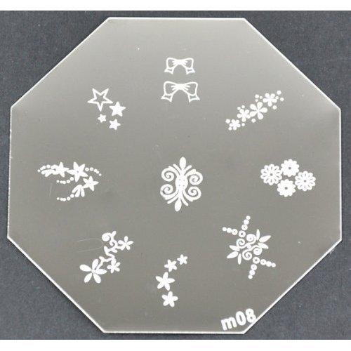 Nail Art emboutissage des tôles - M01 CODE : M08-plaque