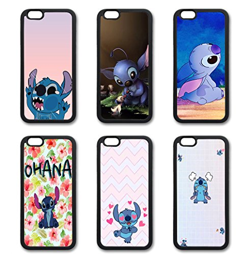 Coque silicone BUMPER souple IPHONE 5C - Lilo & Stitch Ohana famille CASE motif DESIGN + Film de protection INCLUS 1