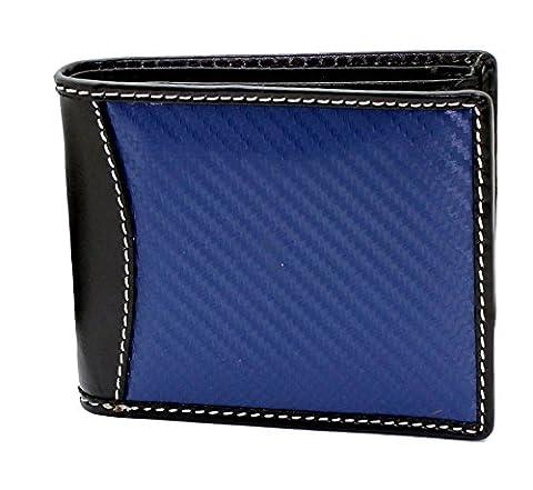 Starhide Mens real leather & carbon fiber slim wallet comes