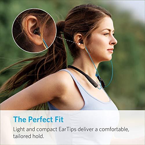 Anker SoundBuds Lite Bluetooth Kopfhörer, Leichtes Nackenband Headset, IPX5 Wasserfestes Sport In-Ear-Headset mit Geräuschreduzierung und In-Line Mikrofon (Blau) - 2