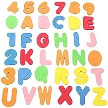 36pcs del baño del bebé Letras y números de Seguridad educativos de aprendizaje agua juguetes clásicos