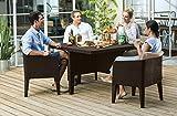 Keter Columbia Outdoor Garden Furniture Cube Set - Brown