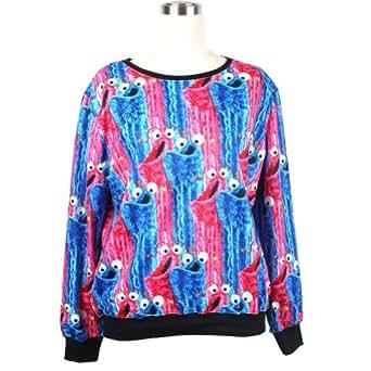 S-ZONE 3D Cartoon Sweatshirts Space Print Pullovers Jumper Long Sleeve T-shirt