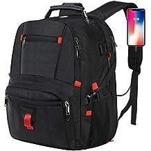 E-MANIS Mochila Portátil Hombre 17.3 Pulgadas Puerto USB Impermeable Trabajo Mochila Viaje Negocio Multifuncional