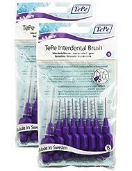 TePe - Cepillo Interdental 1.1 mm Morado - 2 Paquetes de 8 Unidades (16 Cepillos)