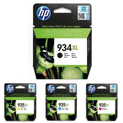 HP Original 934XL/935XL Multipack - 4 Tintenpatrone - Cyan / Gelb / Magenta / Schwarz - kompatibel mit Officejet Pro 6230, OfficeJet 6800 Serie