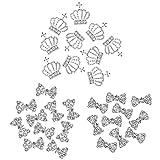 COM-FOUR® 30-teiliges Set 3D NailArt Nagelschmuck in verschiedenen Formen mit