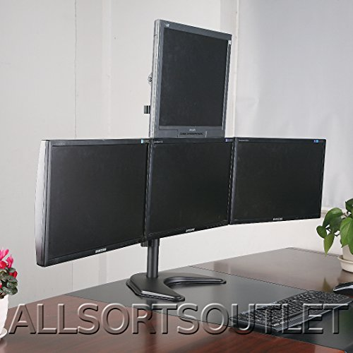 2016-quad-quadruple-4-pyramid-3-1-lcd-led-tft-computer-monitor-desk-stand-mount-free-standing-fully-