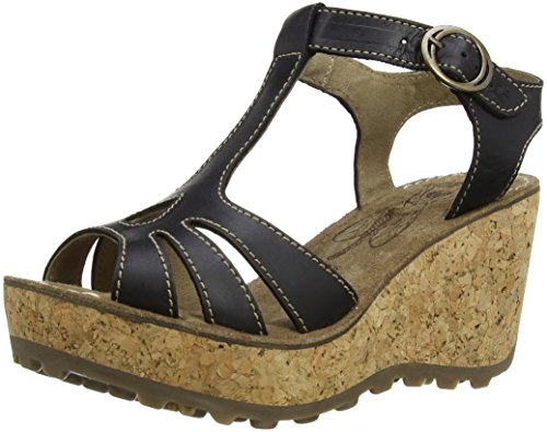 FLY London Gold, Espadrilles femme Noir (Black)