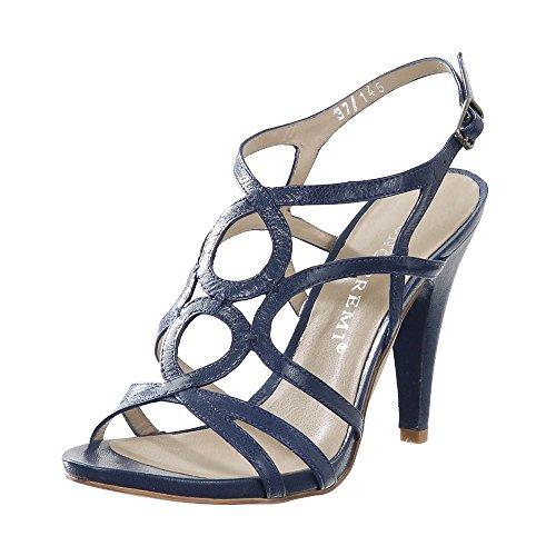 BRUNO PREMI Damen Sandaletten Capra blau 11cm Blau