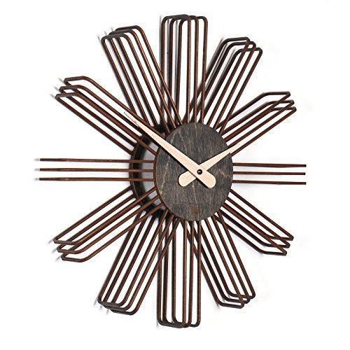 Amazon.De: Wanduhr Estrella: Moderne Design Wanduhr Aus Holz