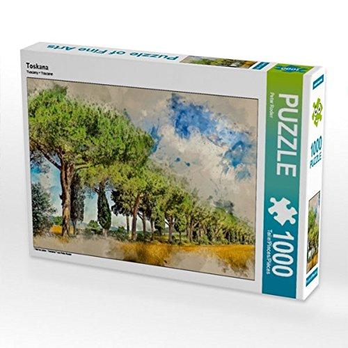 Toskana 1000 Teile Puzzle quer (CALVENDO Orte)